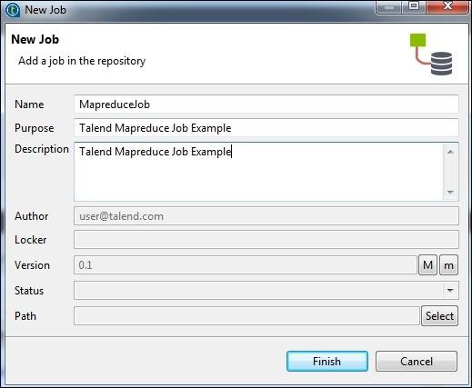 Creating a Talend MapReduce Job