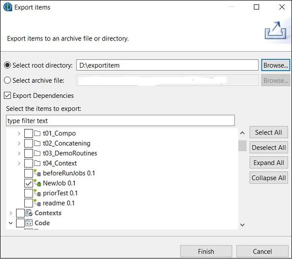 Importi ng/Exporting Items and Building Jobs