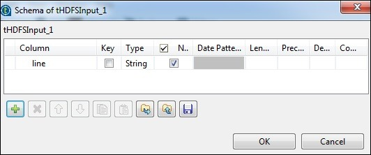 """Click edit schema and add the field """"line"""" as string type."""