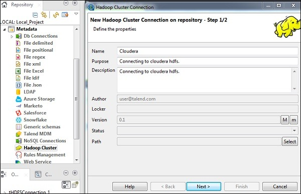 Setting Up Hadoop Connection