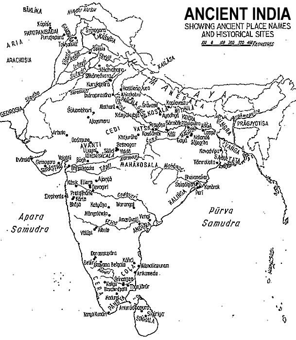 ancient india map - mytechmint