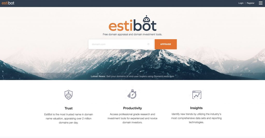 estibot tool - Best Domain Appraisal Services And Domain Name Value Checkers - mytechmint.com