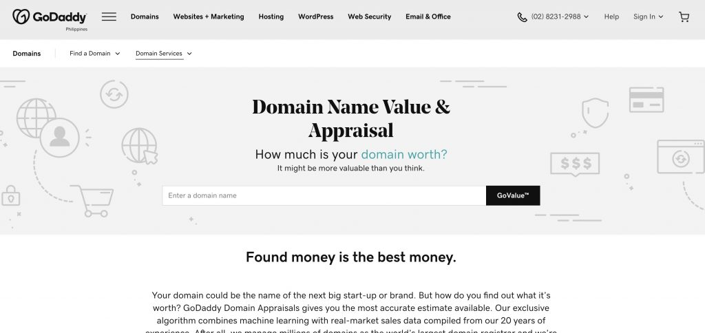 godaddy-domain-value-appraisal - Best Domain Appraisal Services And Domain Name Value Checkers - mytechmint.com
