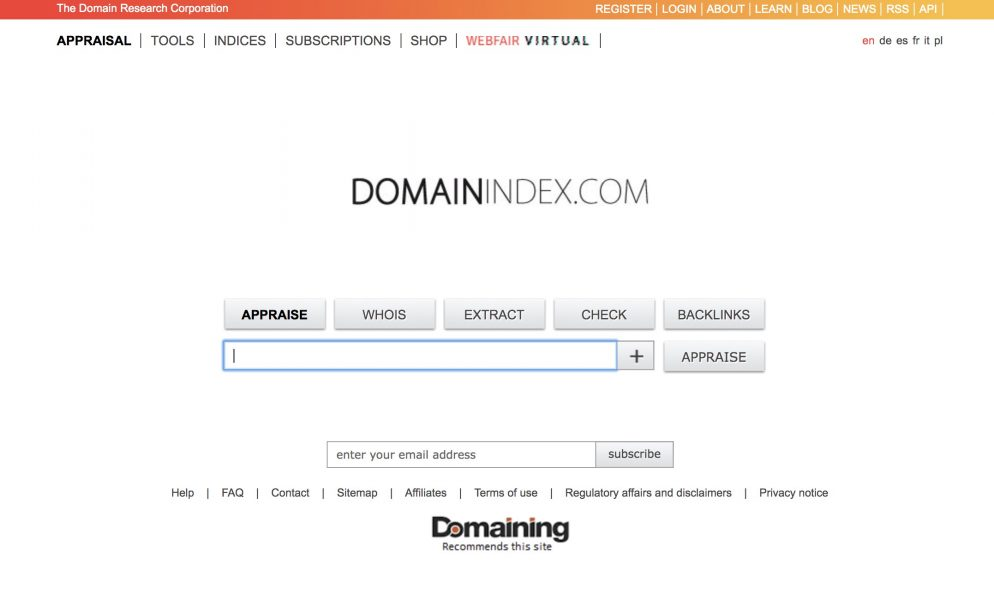 domainindex website -Best Domain Appraisal Services And Domain Name Value Checkers - mytechmint.com