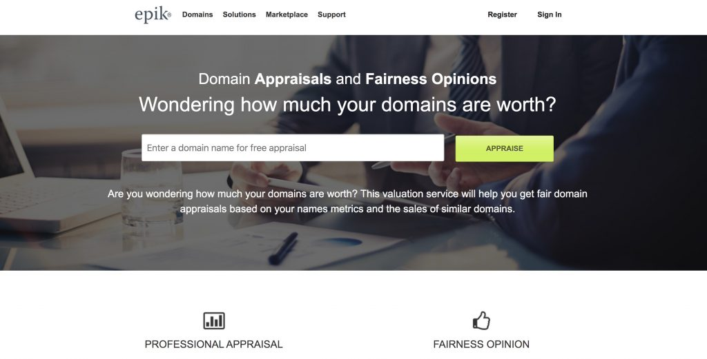 epik appraise website - Best Domain Appraisal Services And Domain Name Value Checkers - mytechmint.com