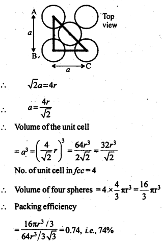 NCERT Solutions For Class 12 Chemistry Chapter 1 The Solid State 7