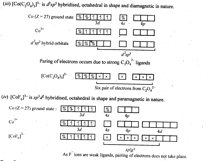 NCERT Solutions For Class 12 Chemistry Chapter 9 Coordination Compounds-14